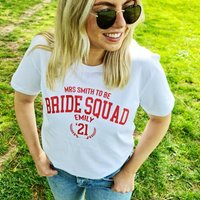 Personalised Bride Squad Hen Party T Shirt