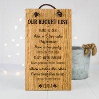 Personalised Bucket List Sign