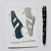 Rugby Boot Birthday Greeting Card
