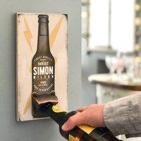 Personalised Beer Bottle Opener Wall Plaque