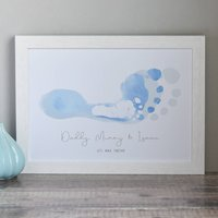 Personalised Footsteps Family Print