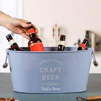 Personalised Blue Craft Beer Bottle Cooler Bucket