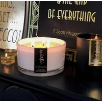 Large Three Wick Scented Candle Table Centrepiece