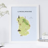 Map Of Lincolnshire Print