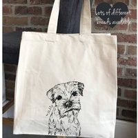 Personalised Dog Canvas Tote