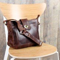 Finsbury Leather Twist Lock Crossbody Bag