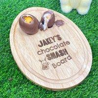 Personalised Egg Chocolate Smash Board