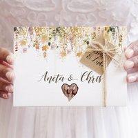 'Whimsical Autumn' Concertina Fold Wedding Invitation