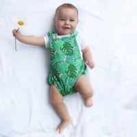 Tropical Print Summer Baby Bubble Romper