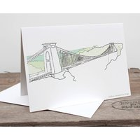 Clifton Suspension Bridge Greetings Card