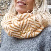 Personalised Caramel Zigzag Faux Fur Snood