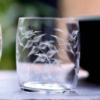 A Crystal Carafe Glass: Fern Design
