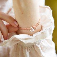Personalised Family Heart Charm Bracelet