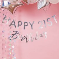 Iridescent Customisable Birthday Milestone Bunting