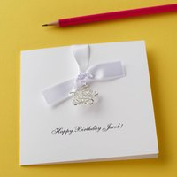 Personalised Wire Star Birthday Card
