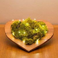 Botanical Moss Art Heart Bowl
