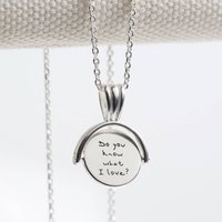 Personalised Small Sterling Spinning Disc Necklace