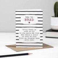 Brad Pitt Poem Card