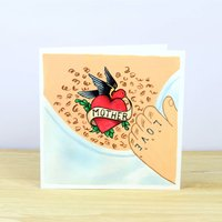 Mother's Day Tattoo Greetings Card