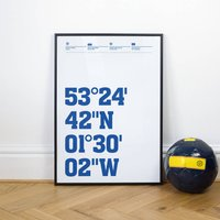 Sheffield Weds Football Stadium Coordinates Posters