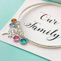 Family Tree Birthstone Bangle