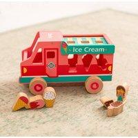 Personalised Wooden Ice Cream Van Shape Sorter
