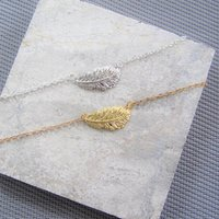 Delicate Feather Necklace Gift For Her