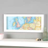 British Isles And Europe Hand Drawn Map Location Print