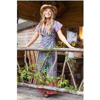 Dixie Wraparound Dress Turquoise