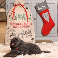 Personalised Heart Stocking And Gift Sack For Pets