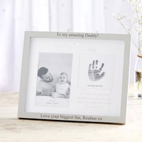 Personalised '1st Father's Day' Double Photo Frame