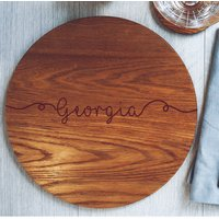 Personalised Round Wooden Placemat