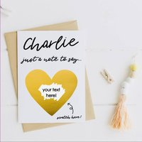 Personalised Surprise Scratch Card With Gold Foil