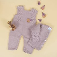 Handmade Organic Dungaree/Cardigan For Boys Or Girls