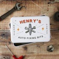 Personalised Auto Fixing Bits Storage Tin