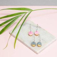 'Dot' Dangle Hoop Earrings