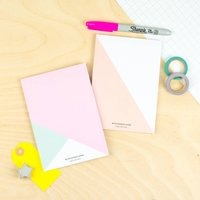 Triangle Colour Block Notepad Gift Set