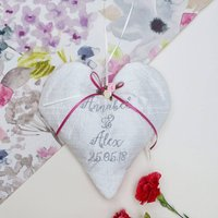 Silk Wedding Heart Floral