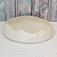 Entice Platter, Turquoise/Cream