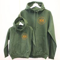 Dad And Child Matching Camping Hoodies, Green/Navy/Burgundy