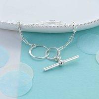 Infinity Link Toggle Clasp Bracelet