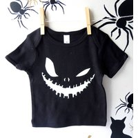 Glow In The Dark Scary Face Baby Top