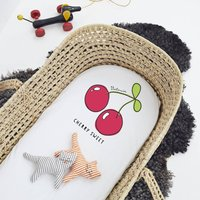 Personalised Cherry Sweet Pram/Moses Basket Sheet