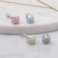 Stud Earrings Made With Swarovski Pearls, Silver/Gunmetal/Gold