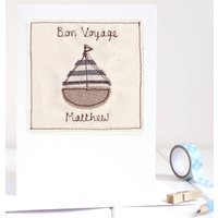 Personalised Boat Leaving Card