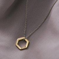 Personalised Mini Hexagon Necklace