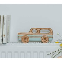 Wooden Toy Car Station Wagon Duck Egg