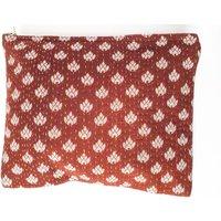 Upcycled Brown Floral Sari Vintage Kantha Clutch Bag