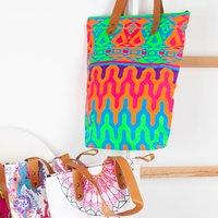 Aztec Print Shoulder Bag