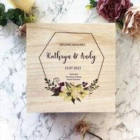 Personalised Wedding Keepsake Memory Box
